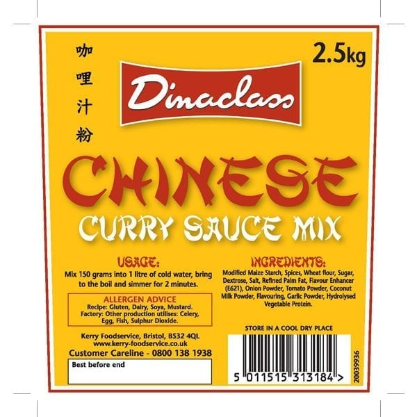 Dinaclass Chinese Curry Mix