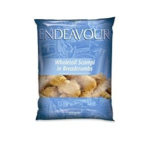 Endeavour Wholetail Scampi In Breadcrumbs