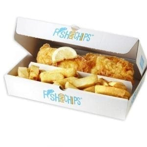Hook & Fish 2 Compartment Box