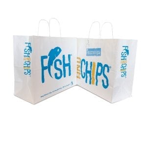 Hook & Fish Paper Carrier with Handles