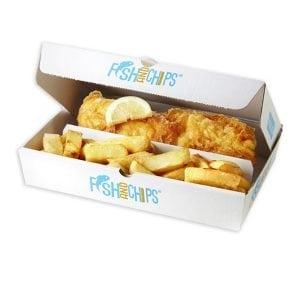 Hook & Fish Two Compartment Box Small
