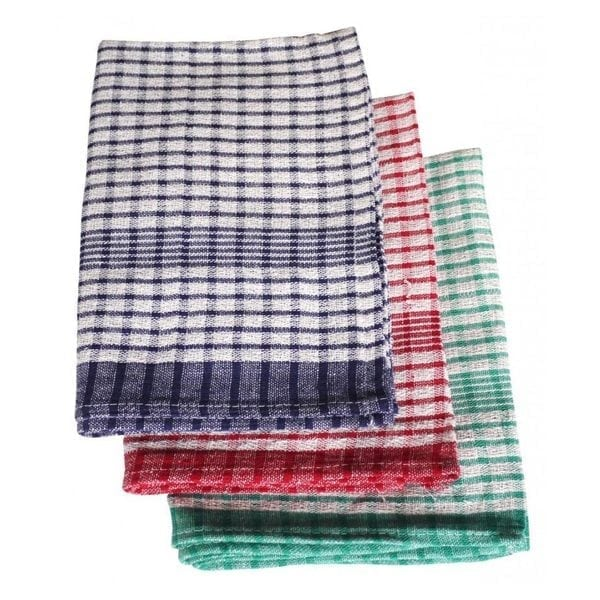 Rice Weave Check Tea Towels 10