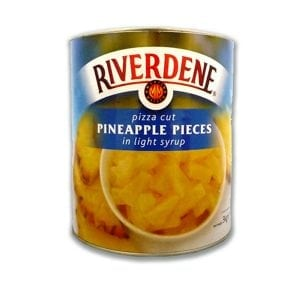 Riverdene Pineapple Pieces Pizza Cut