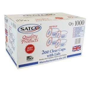 Satco Clear Plastic Containers & Lids 2oz