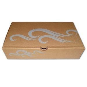 Brown Silver Medium Boxes