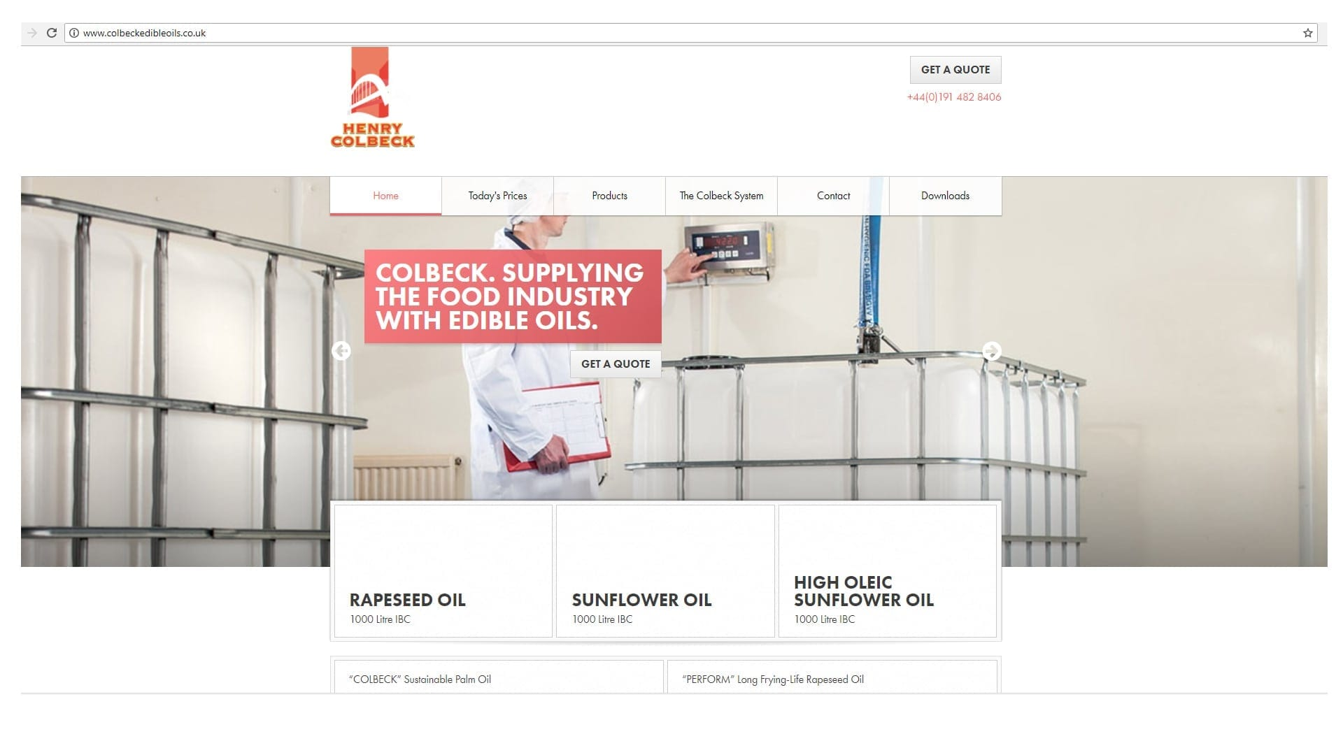 Edible Oil Website
