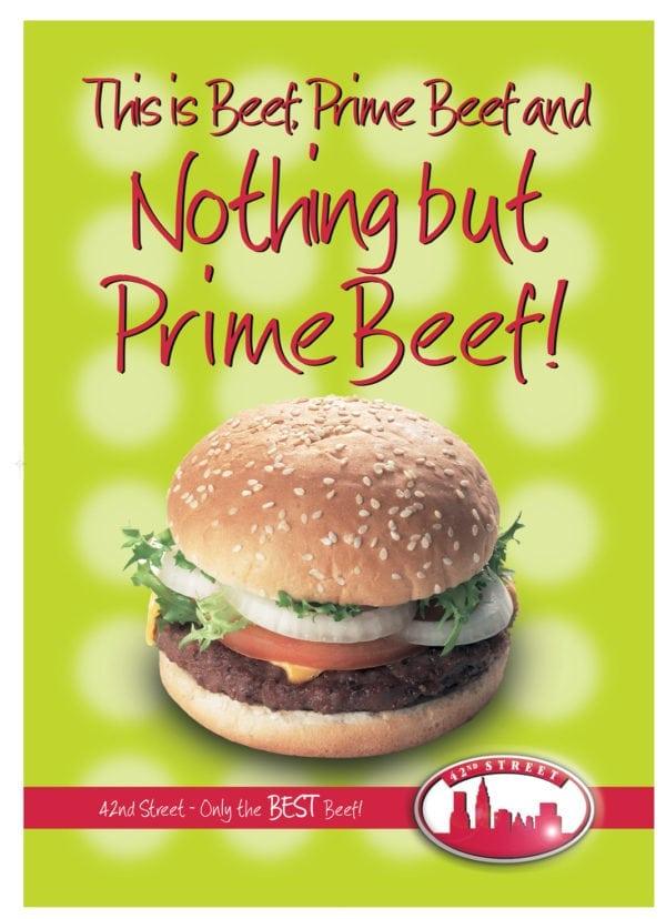 42nd Street Beef Burger Poster