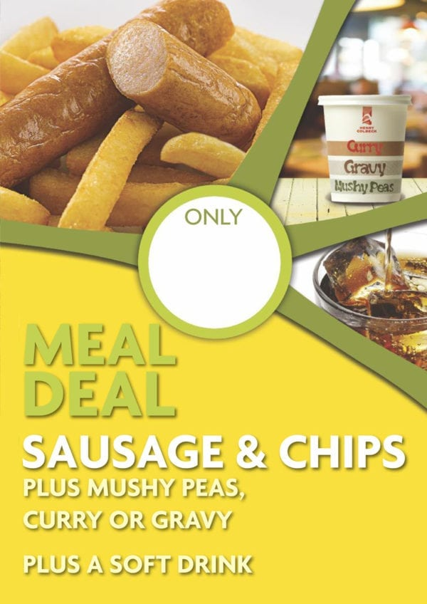 Sausage & Chip Meal Deal Poster