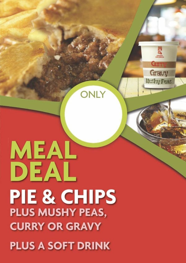 Pie & Chip Meal Deal Poster