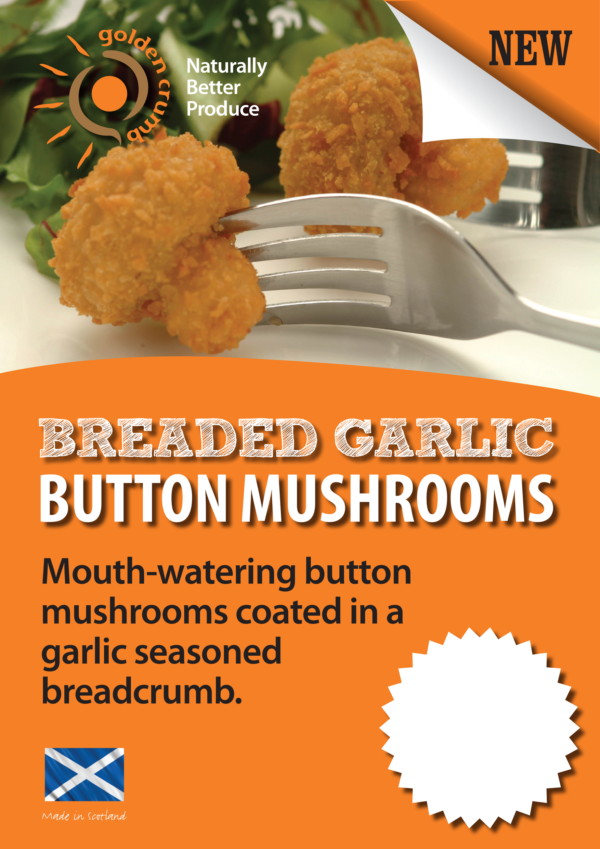 Breaded Garlic Mushrooms Poster