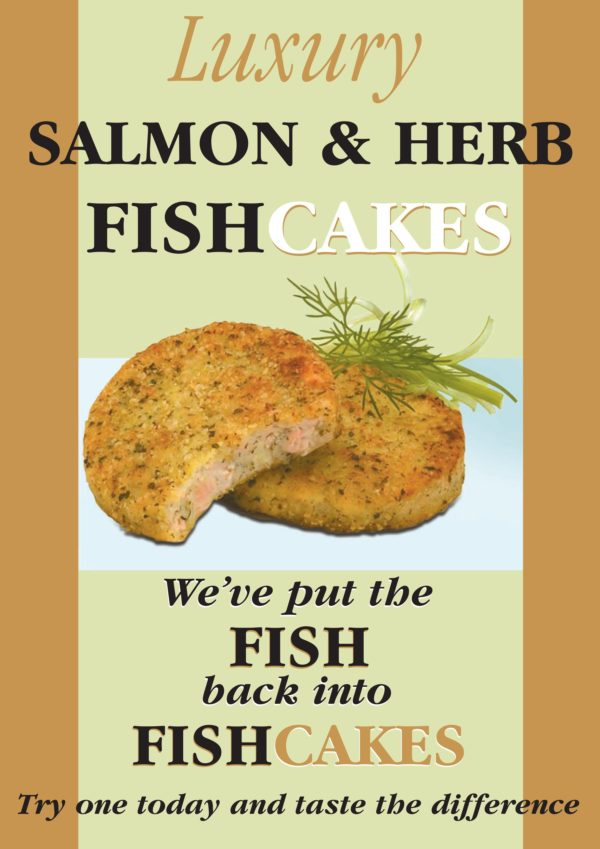 Salmon & Herb Fishcakes Poster