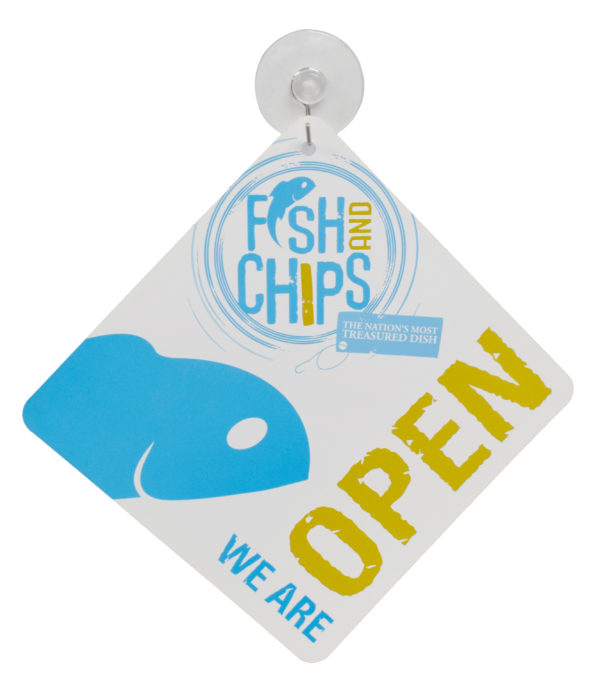 Hook & Fish Open Sign