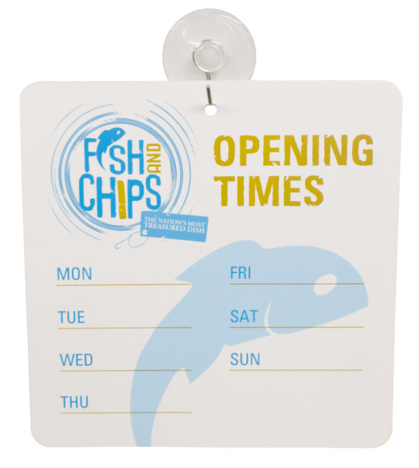 Hook & Fish Opening Hours Sign