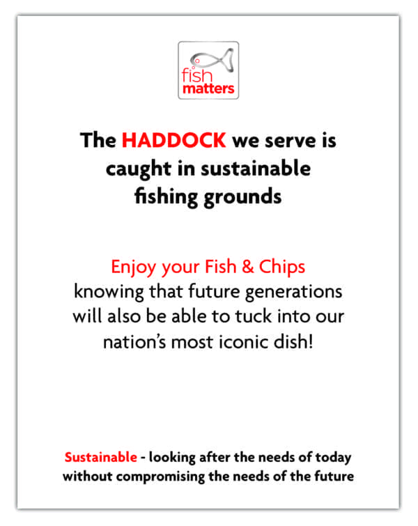 Haddock Tent Card