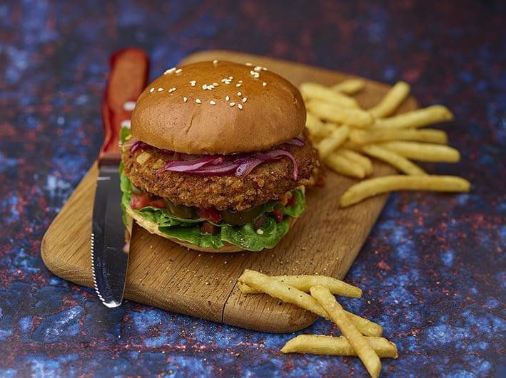 Vegan Flamin Inferno Burger
