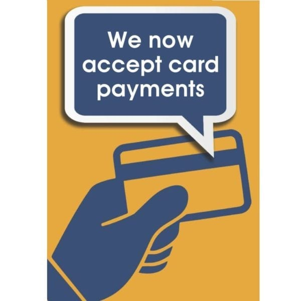 We accept card poster