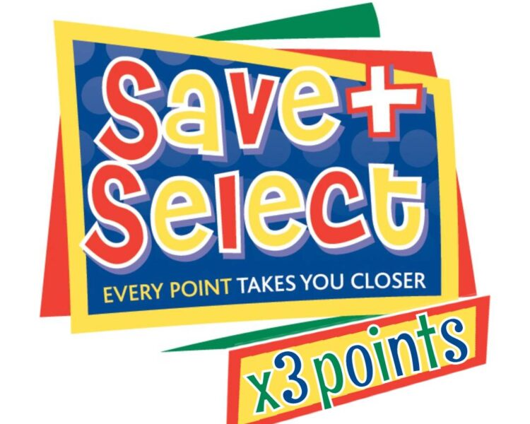 Triple Points on Save and Select